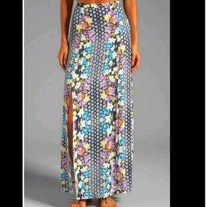 MINKPINK high waisted front panel slits maxi skirt